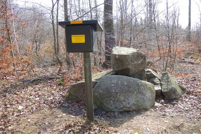 Bärendenkmal Ramberg Stempelkasten Harzer Wandernadel Nr. 184