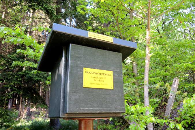 Hohle Eiche Allrode Harzer Wandernadel Nr. 57 Stempelkasten