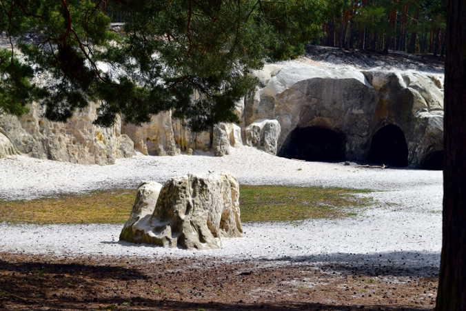 Sandhöhlen im Heers Dedingstein Harzer Wandernadel 81