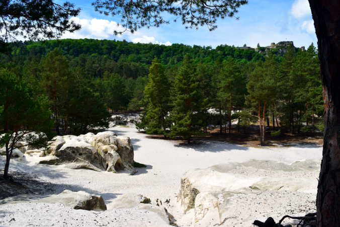 Sandhöhlen im Heers & Burgruine Regenstein Harzer Wandernadel 81