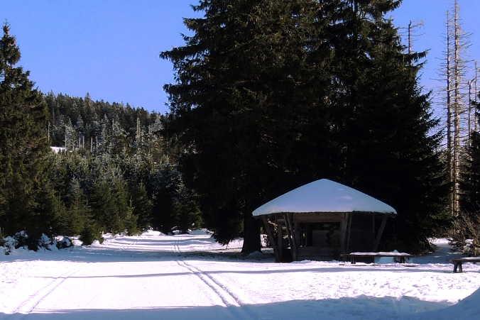 Eckersprung Schutzhütte am Harzer Goetheweg
