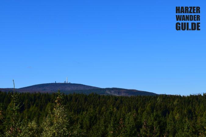 Brocken vom Ottofelsen Harzer Wandernadel Stempelstelle 27
