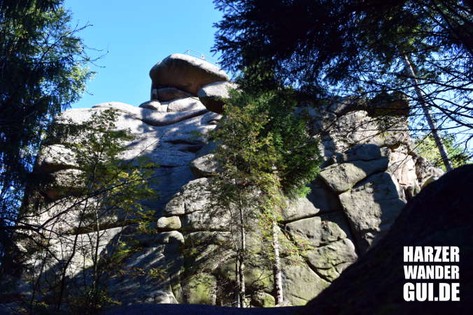 Ottofelsen Harzer Wandernadel Stempelstelle 27