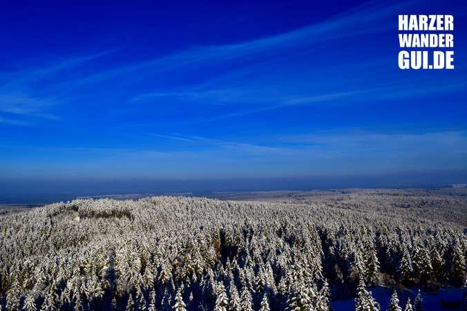 Aussicht vom Carlsturm Stempelstelle Harzer Wandernadel 51