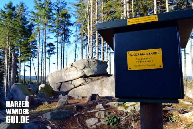 Ferdinandsstein Harzer Wandernadel Stempelstelle 16