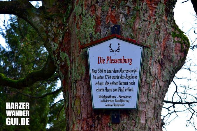 Plessenburg Harzer Wandernadel Stempelstelle 7