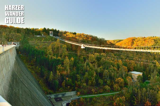 Harz-Bild des Monats Oktober 2017 #3: Hängebrücke Titan RT Rappbodetalsperre