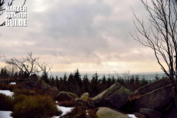 Aussicht vom Hohnekamm auf den Harz