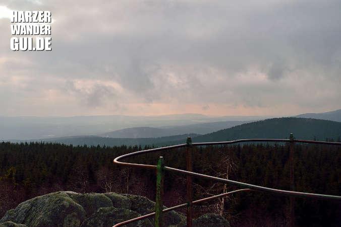 Hohnekamm: Ausicht von der Leistenklippe