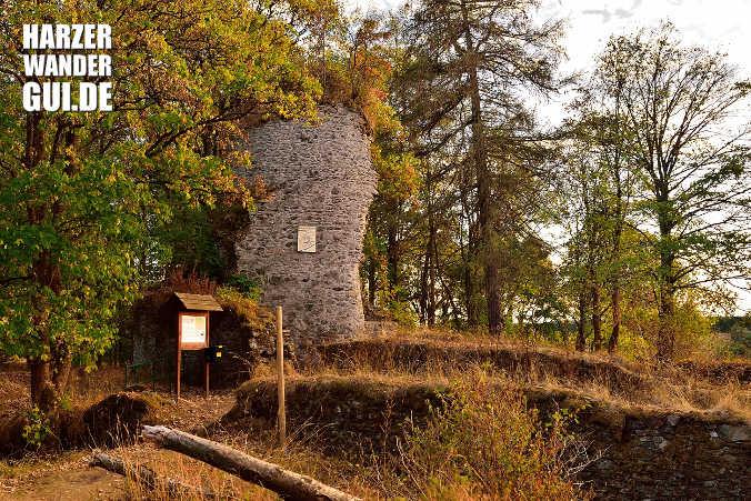 Ruine Königsburg Harzer Wandernadel Stempelstelle 41