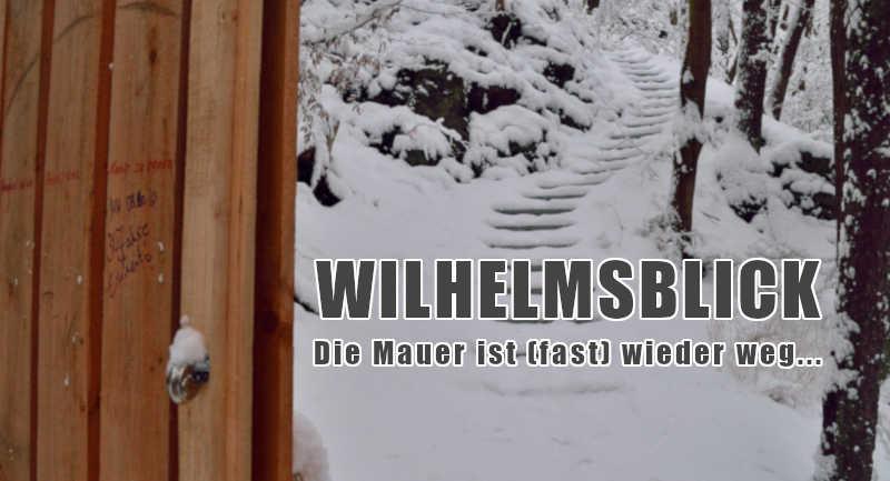 Neue Treppe: Wilhelmsblick wieder von L93 zugänglich