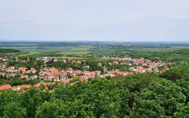 Aussicht vom Preußenturm auf Bad Suderode