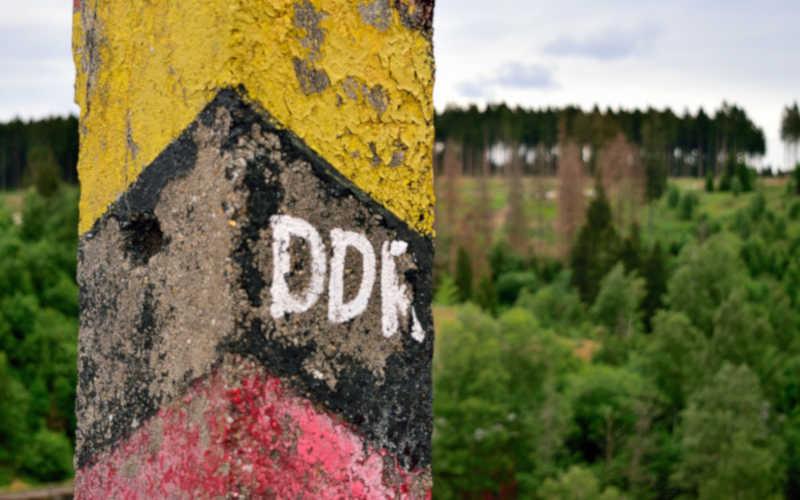 Eckertalsperre - Stempelstelle 1 - alte DDR-Grenzsäule