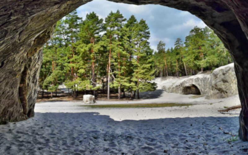 Sandhöhlen im Heers - Stempelstelle 81